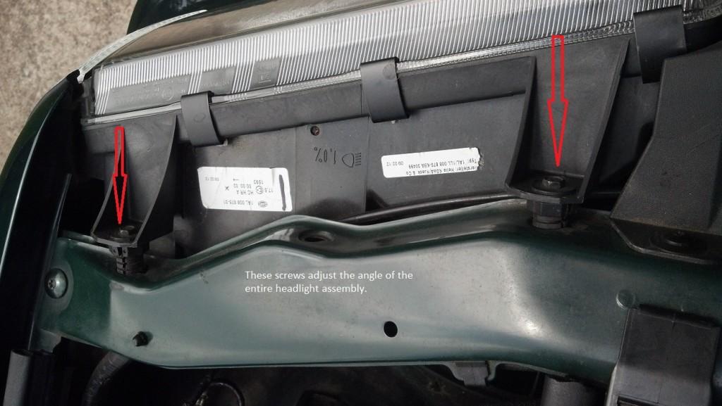E36 Headlight Adjustment