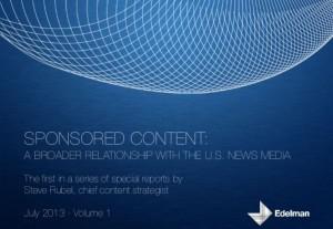 Edelman Opines on Sponsored Content