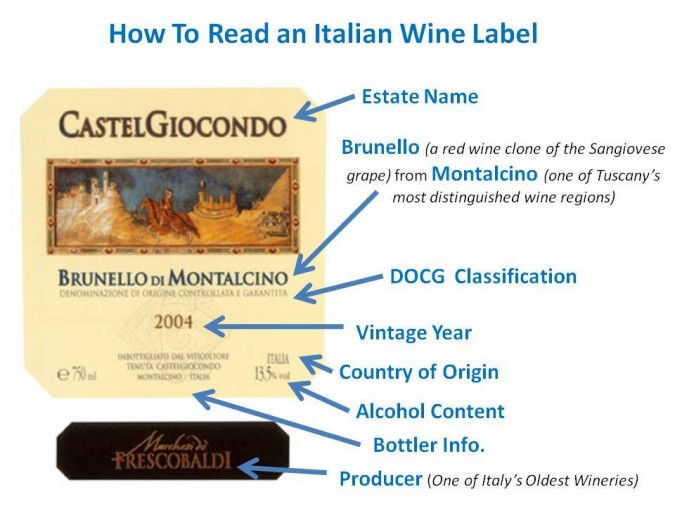 italian wine label