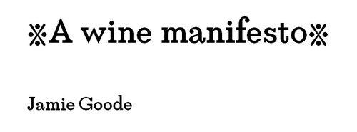 What's Your Wine Manifesto?