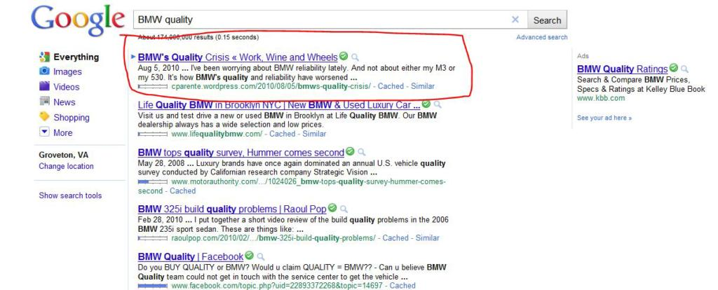 #1 on Google -- A Personal SEO Success Story